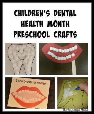 Dental Health Month Kid Crafts