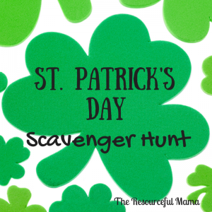 St. Patrick's Day Scavenger Hunt~www.theresourcefulmama.com