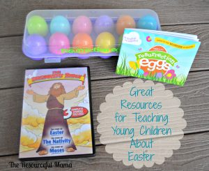 great resources for teaching children the true meaning of Easter~DVD & resurrection eggs