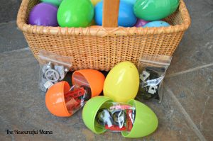 fill easter eggs with legos
