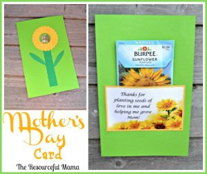 Mother's Day planting seeds of love card~great for kids to help make.