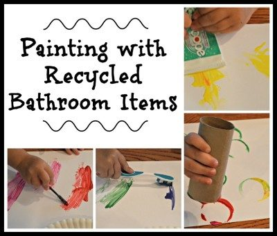 Painting with Recycled Bathroom Items
