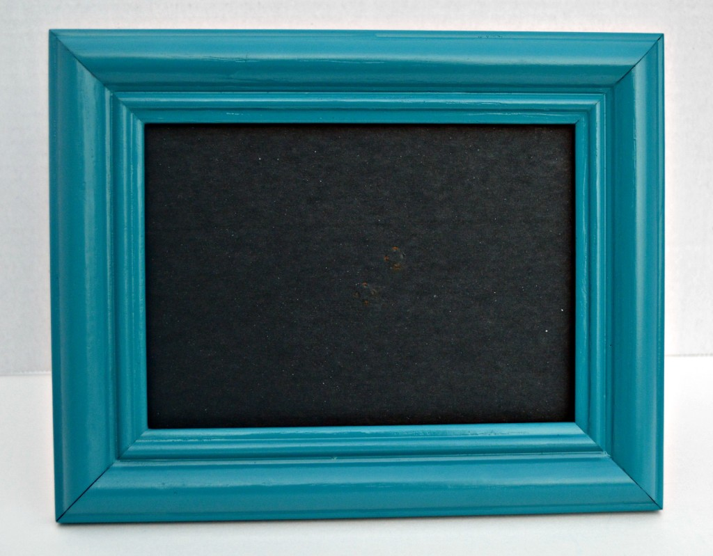 sprayed painted $.79 thrift store frame