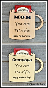 Free printable mother's day card for you tea loving mom or grandma.