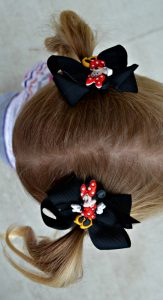 Semi-homemade minnie mouse hair bows