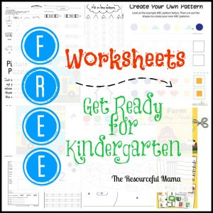 Free printable preschool worksheets to get your child ready for kindergarten