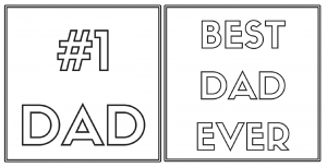 Free printable cards your kids can color for father's day.