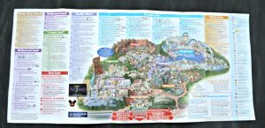 Map of Disnyland California Adventure May 2015