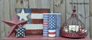 Patriotic decor for 4th of July or Memorial Day