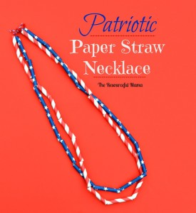 Aren't these patriotic necklaces made from paper straws so cute!