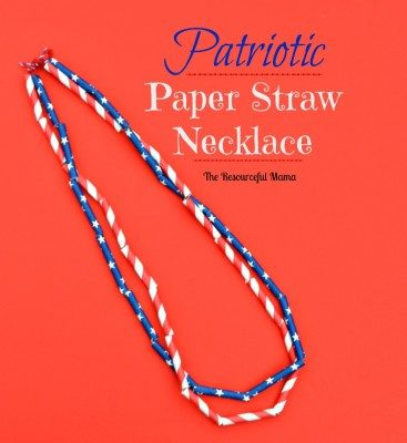Patriotic Paper Straw Necklace