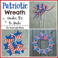 DIY Dollar Tree Patriotic Wreath