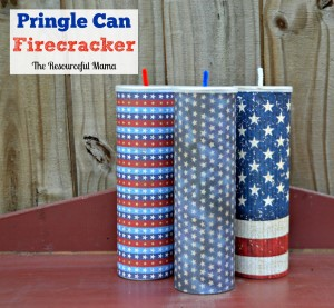 What a fun and easy craft project to do with kids! You need an empty Pringle can, scapbook paper, and pipe cleaner.