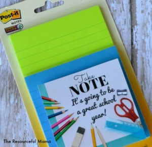 Free printable gift tag...attach to some colorful post it notes and you have a quick and easy teach gift for back to school.
