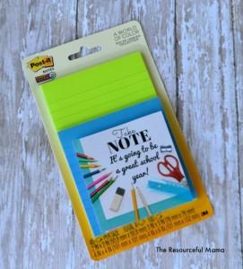Take note teacher gift-free printable gift tag for back to school teacher gift