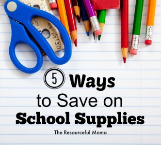 5 Creative Ways to Save on School Supplies