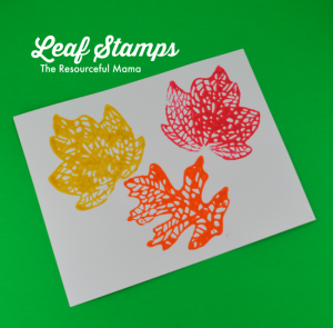 This fall leaf stamp project is a great activity for kids!
