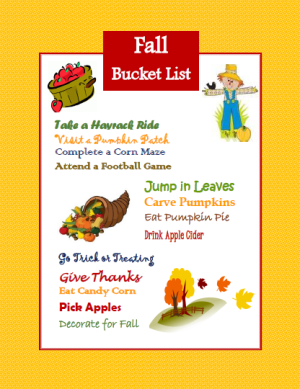 Fall Bucket List: Apple, Leaves, Pumpkins, and More