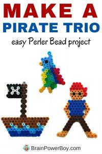 Perler Bead Pirate Trio Pattern