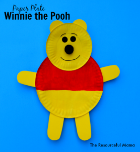 Winnie the Pooh kid craft made with paper plates