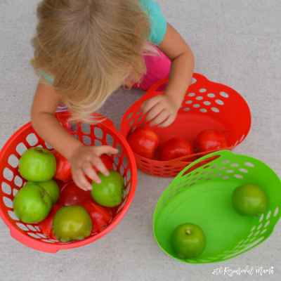 A Fun Apple Sorting Activity for Toddlers