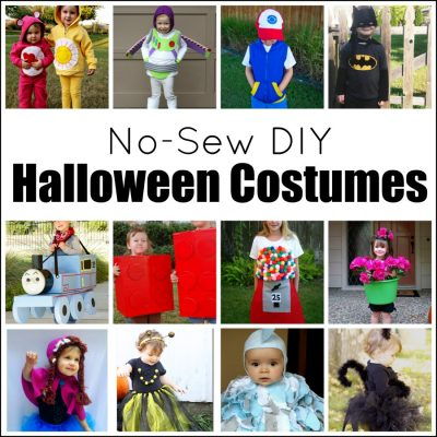 Super Cute No-Sew DIY Halloween Costumes