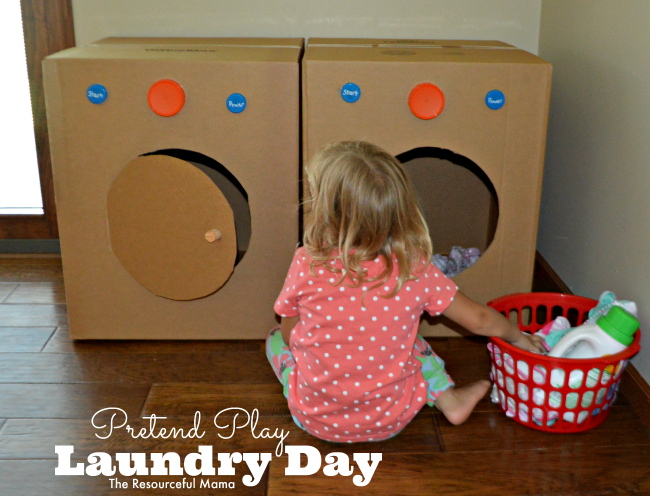 laundry is piling up laundry day pretend play the resourceful mama. Black Bedroom Furniture Sets. Home Design Ideas