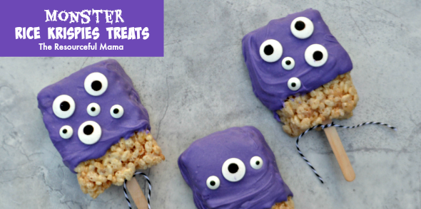 Monster Rice Krispies Treats The Resourceful Mama