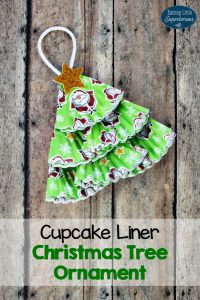 Cupcake Liner Christmas Tree Ornament