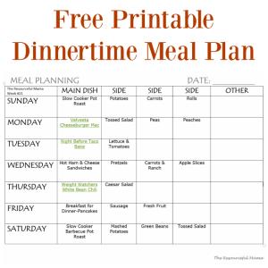 Meal Planning Week #20