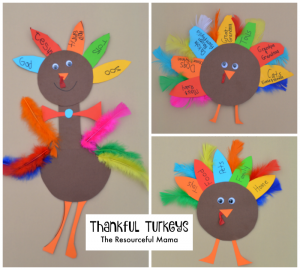 Thanksgiving Thankful Turkey Kid Craft-great way to get your kids talking about what they are thankful for this year.
