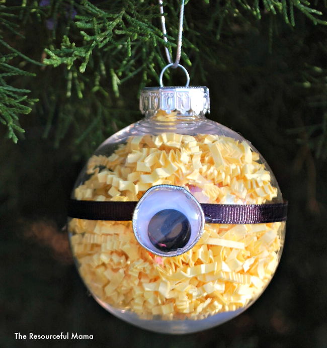 Minion Homemade Christmas Ornament