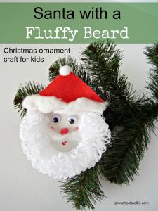 Santa kid ornament