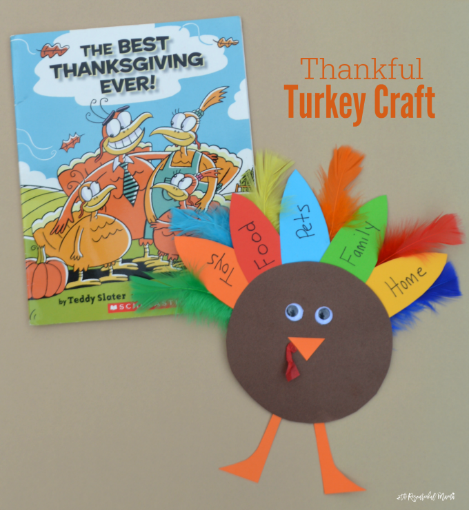 This turkey kid craft is a great way for kids to celebrate Thanksgiving and express those things for which they are thankful.