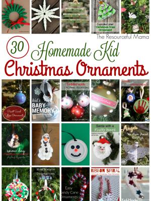 30 Homemade Kid Christmas Ornaments