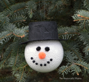 Frosty the Snowman Homemade Christmas Ornament