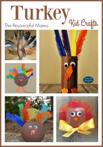 Turkey Kid Crafts for Thanksgiving