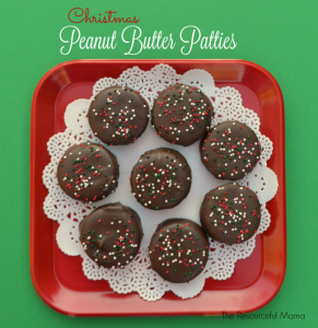 Christmas Peanut Butter Patties are a quick and easy no bake Christmas cookie.