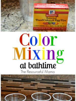 Color Mixing at Bathtime