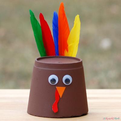 Foam Cup Thanksgiving Turkey Craft