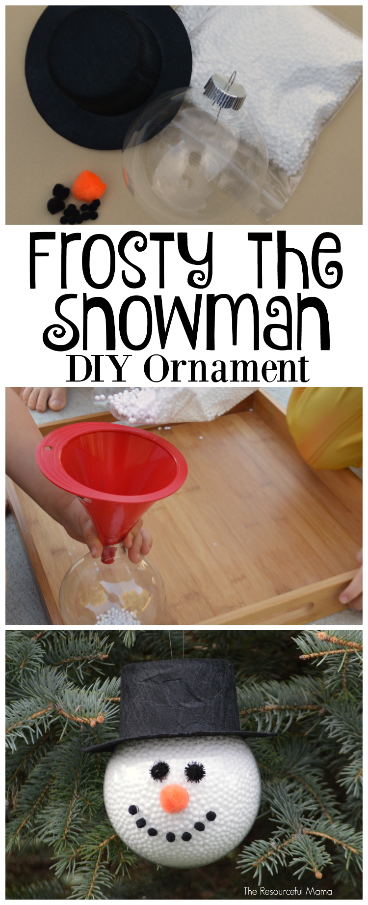 DIY Frosty the Snowman Christmas Ornament