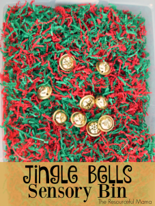 Christmas Jingle Bells Sensory Bin for Toddlers