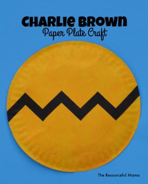 Paper Plate Charlie Brown Kid Craft