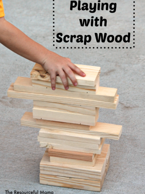 Simple Play with Scrap Wood