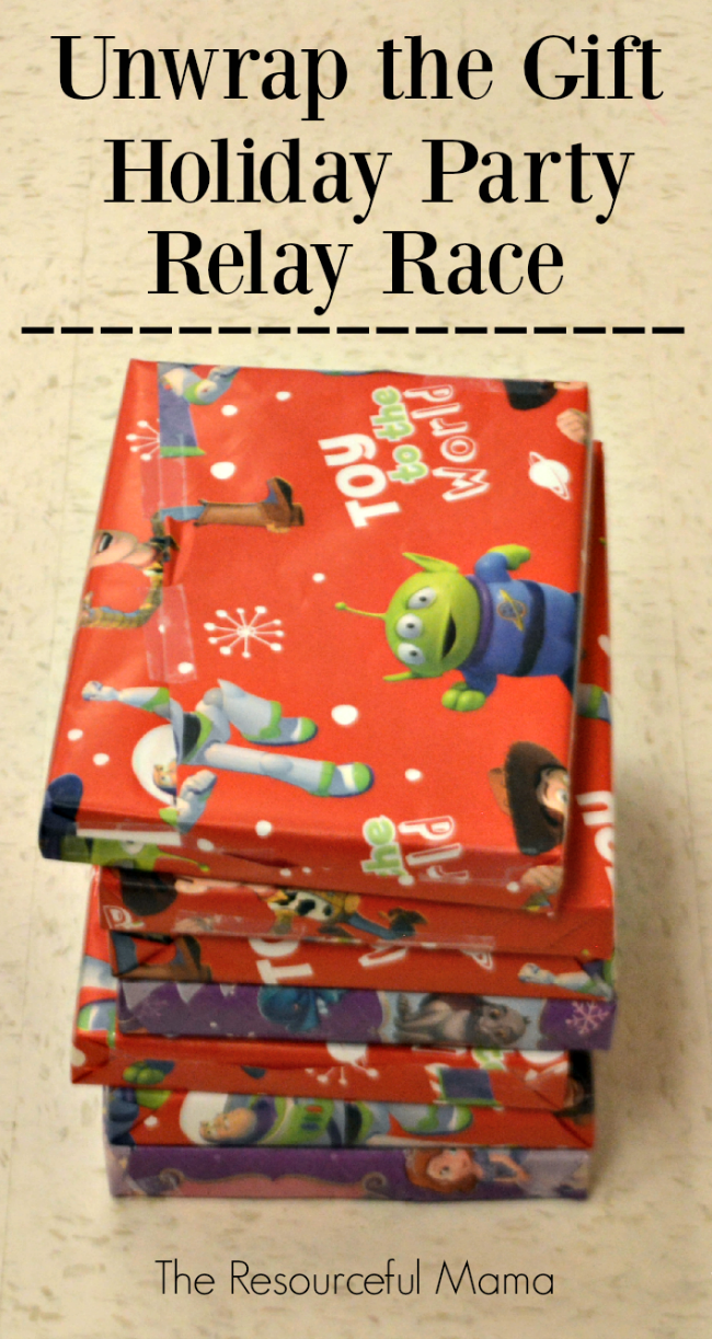 Classroom Game Ideas For College ~ Unwrap the gift holiday party game resourceful mama