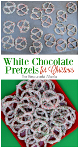 White Chocolate Pretzels for Christmas