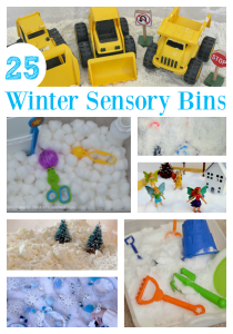 25 winter sensory bins