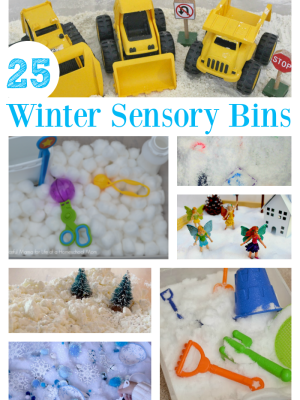 Winter Sensory Bins