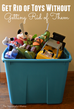 Are the toys taking over! Reduce toy clutter and get rid of toys without actually getting rid of them.
