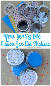 Fun New Year's Eve activity for the kids. Use mason jar lids to make shakers/noisemakers.